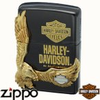 ZIPPO ジッポー HARLEY-DAVIDSON Limted Edition ハーレーダビッドソン HDP-14 ブラックイオン&ゴールドメタル【日本限定発売】【送料無料】