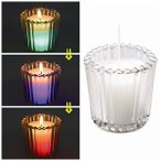 キャンドルリレー用 グラス入りキャンドル ドリーミングTC-5 LEDライト内蔵 結婚式・披露宴・二次会、ウェディングパーティーに最適