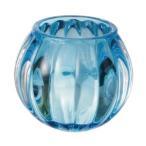 キャンドルホルダー スクワッシュ(ブルー)キャンドルリレー キャンドルグラス