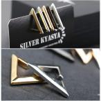 silver KYASYA高品質ステンレス イヤーカフ 三角 ゴールド シルバー イヤーカフ 金 銀 黒 レデイース イヤーカフ トライアン