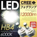 LEDフォグランプ HB4 CREE採用 合計12000LMの圧倒的な輝き 最新型フォグライト 6000K