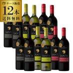 ワインセット 赤 白 12本 サンタ バイ サンタ カロリーナ 3種 セット 飲み比べ 詰め合わせ 送料無料 ケースの画像