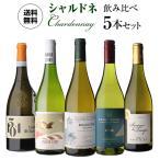 ワインセット 5本 飲み比べ 詰め合わせ 白 送料無料 ぶどう品種で楽しむ シャルドネ ワイン5本セット 7弾