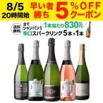 ワインセット 白 スパークリング 泡 5本 飲み比べ 詰め合わせ 送料無料 全て シャンパン製法 極上 辛口 10弾 長S
