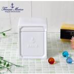 ショッピングコットン 綿棒入れ 綿棒ケース 陶器 白 ふた付き コットンケース 本州送料無料 フランシスマリン おしゃれ 小物入れ BOITE コットンボックス