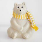 マフラー付き しろくま貯金箱 シロクマ貯金箱 Polar Bear ポーラーベアー  Money box MK Tresmer(エムケートレスマー) 北欧