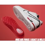 NIKE AIR FORCE 1 REACT white/black-university red cd4366-100 ナイキ エアフォース 1 リアクト スニーカー AF1 ホワイト ブラック レッド