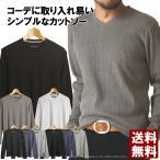 カットソー Vネック 長袖Tシャツ メンズ ロングTシャツ ランダムテレコロンT 通販M2