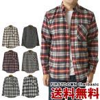ファーストダウンEX チェック ネルシャツ メンズ 長袖 FIRST DOWN EX チェックシャツ フランネルシャツ アウトドア ブランド 送料無料 通販M3