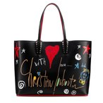 ルブタン ルビタグ カバタ レザー トート Loubitag Cabata Leather Tote Bag BLACK 1185010CM53 Christian Louboutin