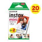 FUJIFILM インスタントカメラ チェキ用フィルム インスタントフィルム instax mini(インスタックス ミニ)10枚×2パック INSTAX MINI JP 2