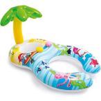 浮き輪 赤ちゃん ダブルチューブ 親子 サンシェード 足入れ ベビーフロート