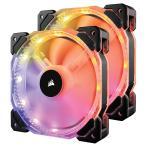 CORSAIR RGB LED制御に対応した140mm高静圧ファン HD140 RGB LED Controller (CO-9050069-WW) ファン2個とコントローラ、ハブをセットにした標準モデル