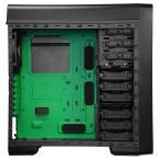 ENERMAX 独自イルミネーションを搭載したATX対応ミドルタワーPCケース ECA3380AS-GN グリーンLED