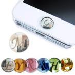 iPhone ホームボタンシール 選べるカラー・イニシャル スワロフスキー ステッカー シール
