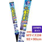 UVカットフィルム 「貼ってはがせる省エネ目かくしシート」マットスモーク92cm×90cm×2本セット