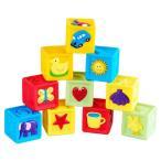 知育玩具 音を出る積木 赤ちゃんおもちゃ 丸い角 カラフル 可愛い図案 柔らかい素材 実践能力 想像力 お誕生日 プレゼント