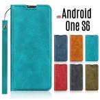 Android One S6 ケース 手帳型 スマホケース Android One S6 カバー ストラップ付き 薄型 カード収納