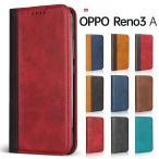 OPPO Reno3 A ケース 手帳型 OPPO Reno3 A スマホケース ベルト無し カード収納 スタンド機能 閉じたまま通話