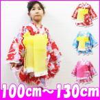 浴衣ドレス/超激安/豪華薔薇&レースフリル帯付き浴衣ドレス3点セット/100/110/120/130/SALE商品(41582)2014SM