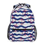 Purple Wave Sailing Leaves College School Bag Cute Backpack for Girls Teen