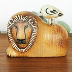 Lisa Larson(リサ ラーソン)Lion with Bird(ライオンと鳥)北欧オブジェ・置物