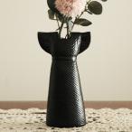 Lisa Larson(リサ ラーソン)Wardrobe Vases Dress(ドレス)ブラック フラワーベース ワードローブシリーズ/北欧オブジェ・置物