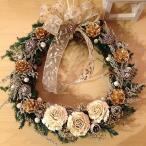 プリザーブドフラワー クリスマス リース 12月 花 ギフト プレゼント ホワイト