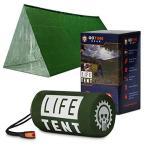 ライフテント 緊急サバイバルシェルター 2人用 緊急テント サバイバルテント 緊急シェルター チューブテン