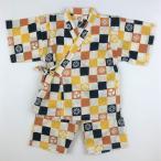 甚平 男の子 子供 キッズ  市松模様  jinbei スーツ 和柄 綿100% 上下セット じんべい