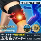 太ももサポーター 圧迫 加圧 固定 筋トレ 太腿 肉離れ 筋断裂 筋肉痛 マジックテープ式