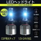 ショッピングLED LEDヘッドライト 防水 H8 HB3 HB4 12V/24V H4 H11 ledバルブ LEDライト 8000lm cspチップ ledフォグランプ 2個セット