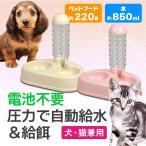 ペット用 ペットフィーダーA 犬用 猫用 イヌ用 ネコ用 給水器 水飲み器 給餌器 フードキーパー 補給 自動補給 給水タンク 旅行 ペットフード