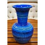 ショッピングイタリア イタリア製 輸入雑貨 深いブルーが美しい素敵な陶器花瓶 Bitossi ビトッシ Flavia フラビア リミニブルー g9f104