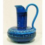 ショッピング花瓶 イタリア製 輸入雑貨 光沢あるブルーのフラワーベース Bitossi ビトッシ Flavia フラビア リミニブルー g9f111