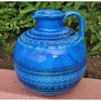 ショッピングイタリア イタリア製 輸入雑貨 ユニークで素敵 ブルーの陶器花瓶 Bitossi ビトッシ Flavia フラビア リミニブルー g9f140