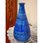 ショッピングイタリア イタリア製 輸入雑貨 深いブルーが印象的な素敵な陶器花瓶 フラワーベース Bitossi ビトッシ Flavia フラビア リミニブルー g9f87