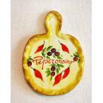 イタリア製 輸入雑貨 壁飾り 絵皿 カッティングボード 唐辛子 ペペロンチーノ バッサーノ ハンドメイド BRE-1777PE 直輸入 リビングスタジオ
