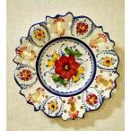 ポルトガル製 輸入雑貨 フリルデザインで明るい花柄柄の絵皿 アルバレスシリーズ
