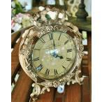 輸入雑貨 ブランシェ ローズクロック Covent Garden コベントガーデン BG-95 置時計 アンティーク風 シャビーシック アイアン