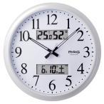 電波掛け時計 ダブルリンク ホワイト W-711 WH MAG