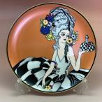 オールドノリタケ  ポンパドール夫人 飾り皿  オレンジラスター彩