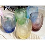 IVV・イタリア製 グラス タンブラー HELIX ヘリックス カラーコップ 選べる5カラー