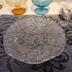 IVV・イタリア製 皿 ガラス皿 Diamante ディアマンテ クリア 22cmプレート6246_1