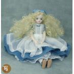 若月まり子人形作品・キャラクター 不思議の国のアリス(カールヘアー) 手作り創作人形(ビスクドール)p-001-2