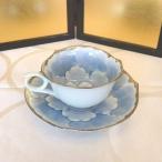 有田焼コーヒーカップ 賞美堂 金牡丹・プラチナ牡丹コーヒー碗皿各一客 コーヒーカップ、ソーサー