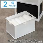 収納ボックス 収納ケース squ+ インボックス L プラスチック 日本製 同色2個セット ( 小物入れ 収納 カラーボックス インナーボックス おもちゃ箱 )