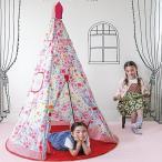 子供 テント 室内 花柄 ピンク キャンプ キッズテント 収納バッグ付 ( アウトドア おしゃれ 子供用 )