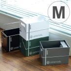 収納ボックス M 幅14×奥行22×高さ16cm コンテナ プラスチック製 ( 収納ケース 収納 持ち手付き 小物収納 角型 ボックス )