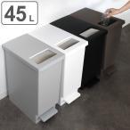 ゴミ箱 キッチン ユニード プッシュ&ペダル 45S ( ごみ箱 ダストボックス スリム 45L 45l ふた付 キッチン )
